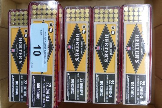 1600 ct Herters 22LR Ammo