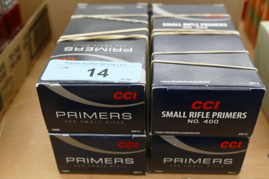 4000 ct of CCI Small Rifle Primers