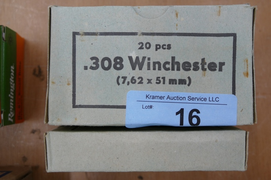 80 rds of Surplus 308 Military Ammo