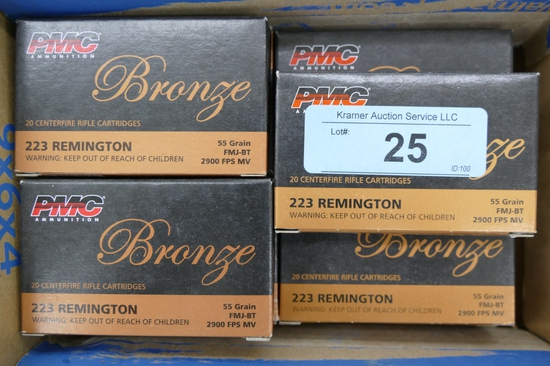 300 rds of PMC Bronze 223 Ammo