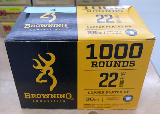1000 rd Brick Browning 22 LR Ammo