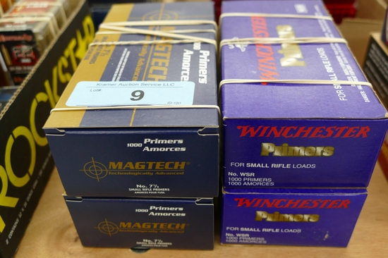 4000 ct of Winchester & MagTec Small Rifle Primers