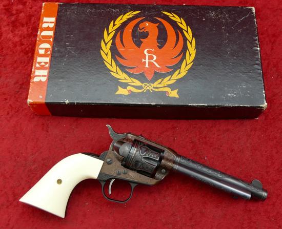 Custom Engraved Ruger Single Six Revolver