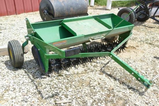 John Deere 3.5 ft lawn airator/seeder