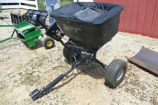 Agri-fab rubber tired lawn fertilizer cart.