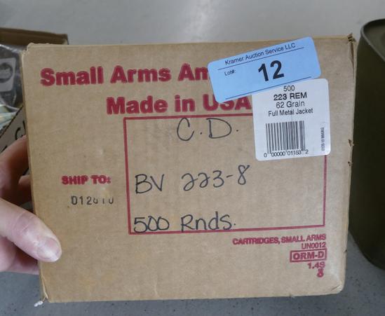 500 rds 223 REM FMJ Ammo