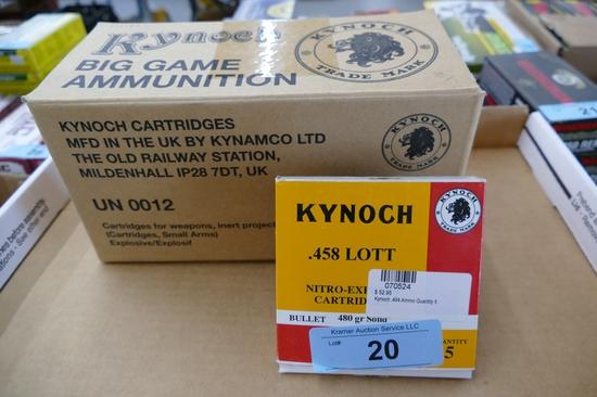 55 rds Kynoch 458 LOTT Ammo