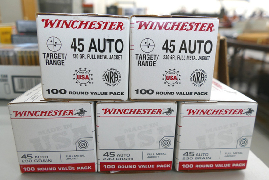 500 rds of Winchester 45 ACP Ammo