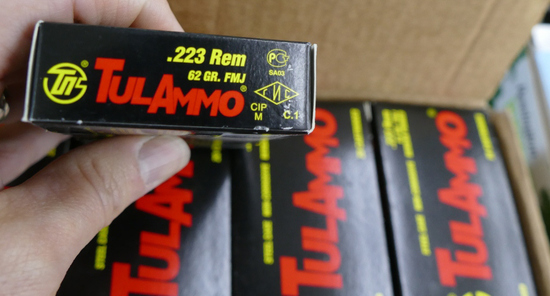 1,000 rd case TULA MMO 223 Hunting Ammo