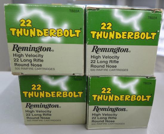 4 Bricks Remington 22 Thunderbolt Ammo