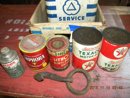 Collectible Oil Cans; Tobacco Cans; Hook; Etc.