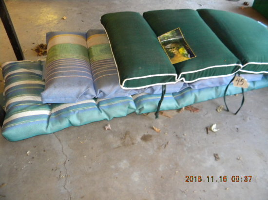 "Three Lounge Chair Cushions, 41-70""l"