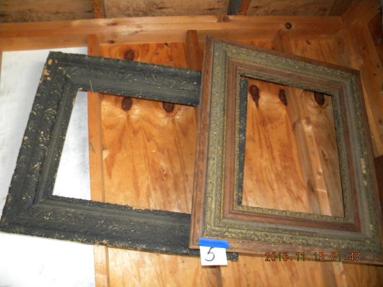 Pair Of Ornate Picture Frames, 20 1/4 X 16 1/4 Inside.