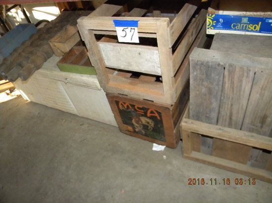 "Toy Chest, 16""h X 32""w; Wooden Boxes, Crates, Shadow Box, Fruit Crates And"