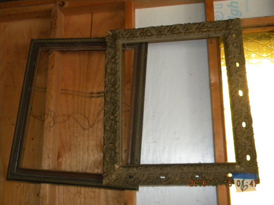 "Pair Of Ornate Picture Frames, 23 1/4 X 19 1/4 Inside, A20 X 24""."