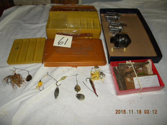 Fishing= Fly Fisherman Collection (harvey Metton); Reels= Zebco 606; Pflueg