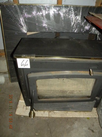 "Fireplace Insert, 31""h X 43""h, W/install Supplies."