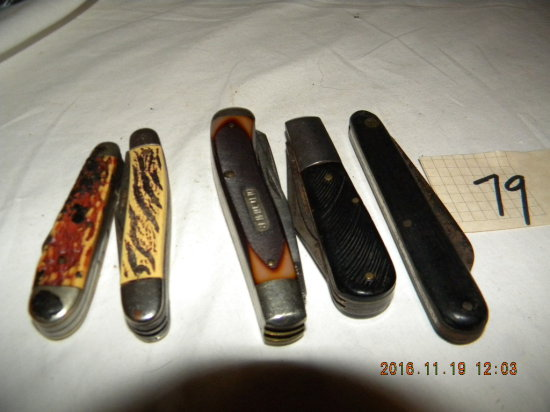 Pocket Knives = Old Timer, Schrade, 940 T, 2 Blade; Schraul , Single Blade;