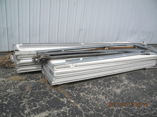"Commercial Overhead Doors W/tracks Assembly- 155"" Wide And 122"" Wide. No Op"