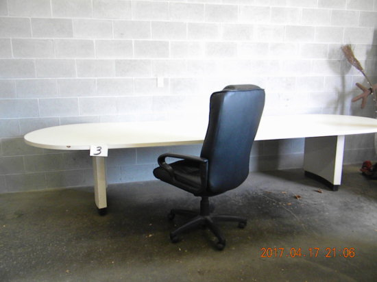 Office Conference Table With Office Chair.