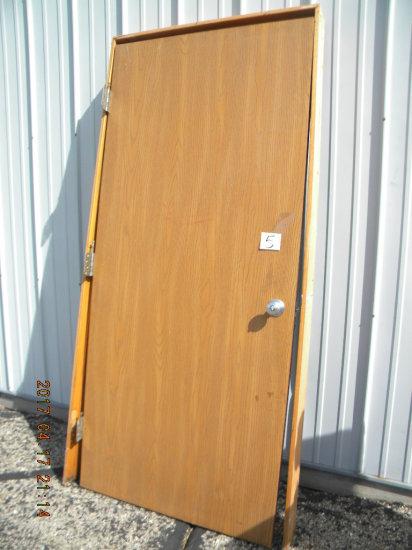 """4= Oak Solid Core Doors W/frames, Width 36""""-door, 37"""" Frame."""