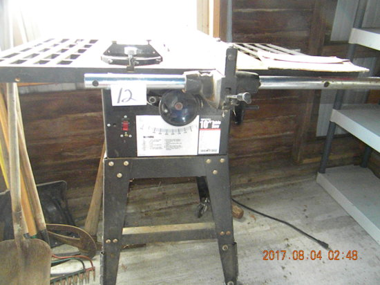 """Pro Series, Ohio Forge 10"""" Table Saw, Caster Damage"""
