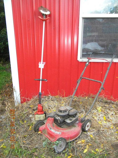 Gas Powered Weed Eater; Red Max Lawn Chief 3.5hp Lawn Mower, Works