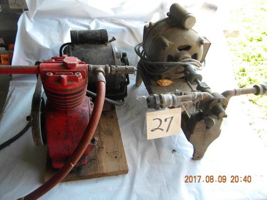 Pair Air Compressor And Lim Stein Pump. Red Runs.