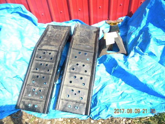 Pair Of Auto Ramps; Peterson 6,500 Lb Industrial Jack Stand,