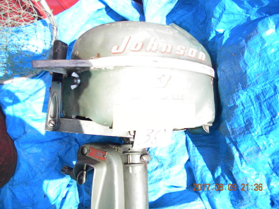 Boat Fuel Tank; Brass And Aluminum Propellors; 3 Hp Johnson Sea Horse Outbo