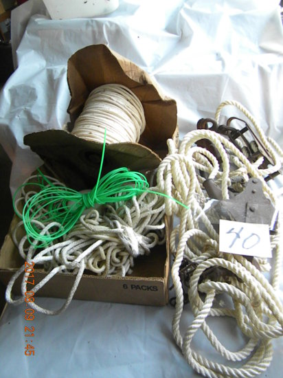 Box Of Wire Stretcher; Rope Etc.
