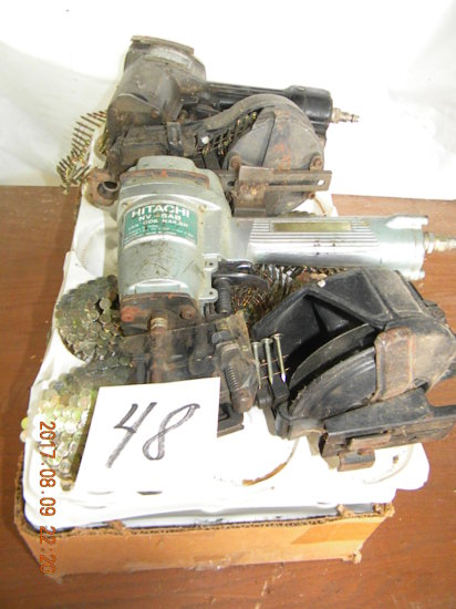 Pneumatic Nail Guns, Coil, Hitachi Nv45 Ab, One Not Marked, Coils Of Roofin