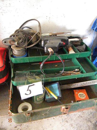 Soldering Kit, Two Guns, Solder, Box Of Rods.