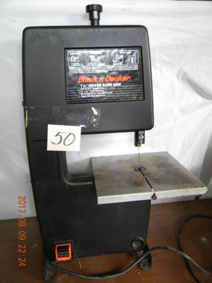 """Black And Decker Band Saw, 7 1/2""""."""