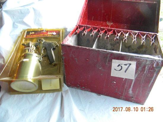 Wet Paint Brush Metal Box; High Pressure Air Paint Spray Gun.