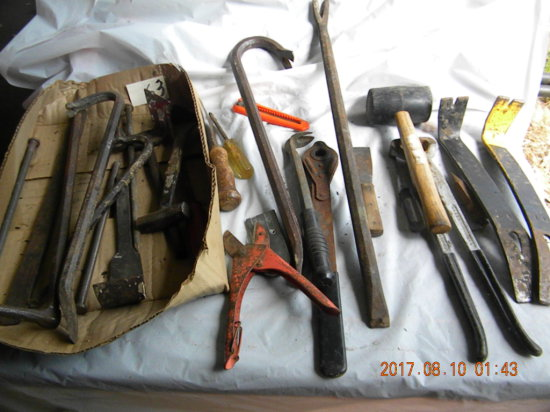 Tools= Rubber Mall; Horse Hoof Trimmer; Nail Pullers And More.