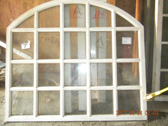 """Arched Wood Framed Insulated Window-58""""x51""""; Rectangle, Wood Framed Insualt"""