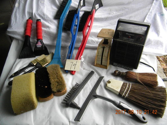 Postal Scale; Brushes; Window Cleaners; Comfort Electric Furnace (cords Rep