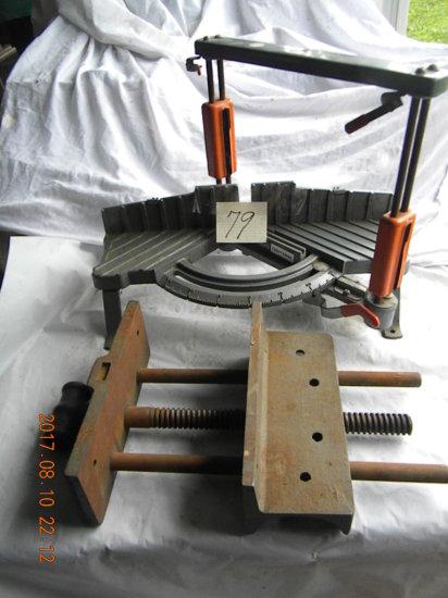 Craftsman Miter Saw Holder W/saw; Wood Bench Vice
