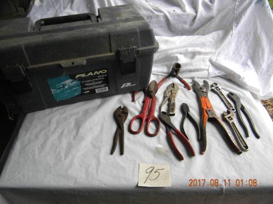 Plano #651 Tool Box W/contents.