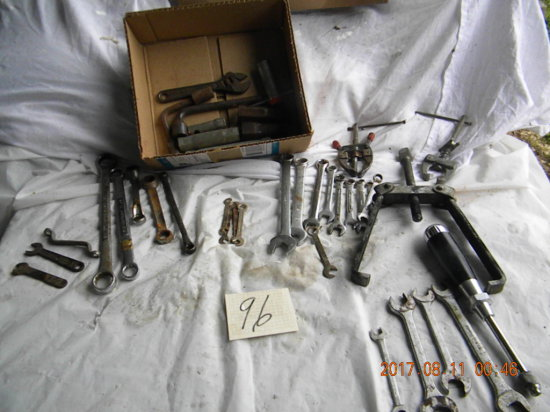 Box= Open Wrenches; Box Wrenches; Gear Pullers; Etc.