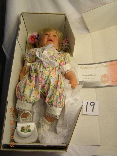 Lee Middleton Original Doll: Spring In Bloom #00307. No Bible