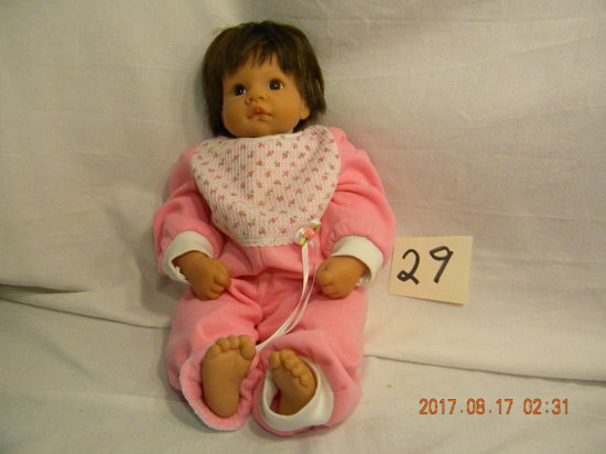 """Lee Middleton Original Doll: By Riva, 17""""h, 090798, 1998, No Box Or Cert."""