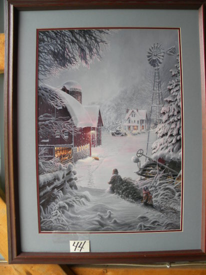 """Framed Print:""""Sanctuary"""" By David Rottinghaus - #096 349/950, With Certificate Of Authenticity"""