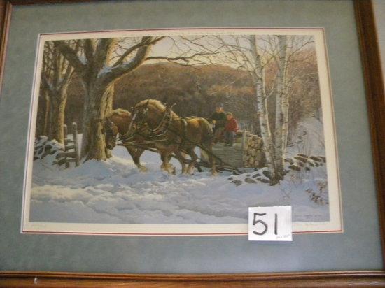 "Framed Print: P.C. Weirs -1988© 683/950, , 24 X 311/2"",matted/framed"