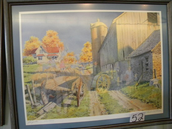 Framed Print:c.L. Peterson - Hayride, 236/2600, With Certificate Of Authent