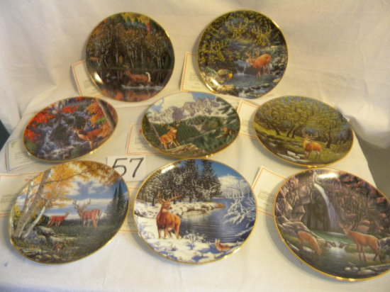 Wilderness Reflection Plates, W/authenticity And Container, Eight