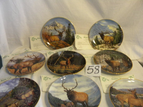 High Country Pride Plates, W/authenticity And Containers, Eight