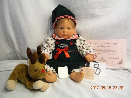 Lee Middleton Original Doll: Santa's Little Helper - Girl
