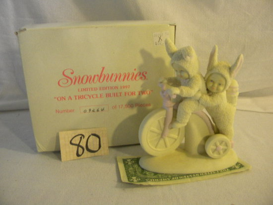 """Snow Bunnies= """"a Tricycle Built For Two"""", 26283"""